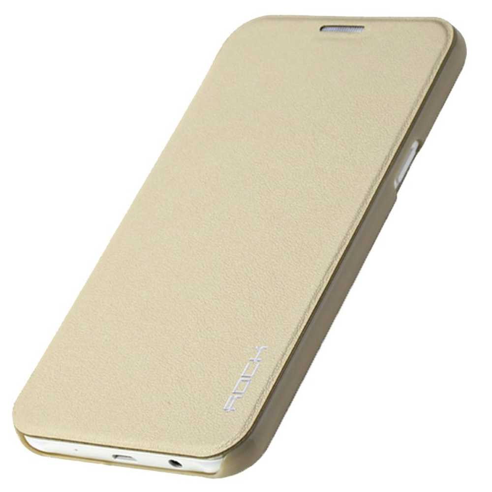 Flip Cover for Samsung Galaxy J7 - Gold