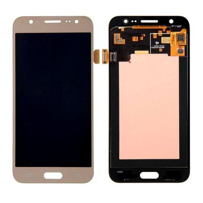 LCD with Touch Screen for Samsung Galaxy J7 - Gold (display glass combo folder)
