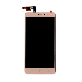 LCD with Touch Screen for Xiaomi Redmi Note 3 - Gold (display glass combo folder)