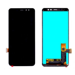 LCD with Touch Screen for Samsung Galaxy A8 Plus 2018 - Black (display glass combo folder)