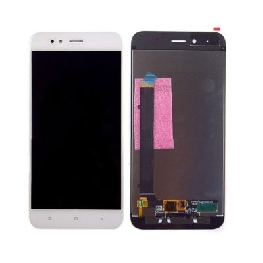 LCD with Touch Screen for Xiaomi Mi A1 - White (display glass combo folder)
