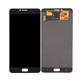 LCD with Touch Screen for Samsung Galaxy C9 Pro - Black (display glass combo folder)