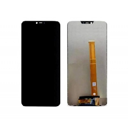 LCD with Touch Screen for Oppo A3s - Black (display glass combo folder)